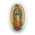 Virgin Guadalupe Sticker (Oval 50 pk)
