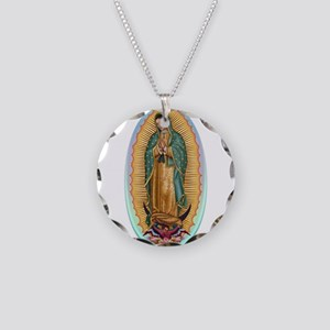 Virgin Guadalupe Necklace Circle Charm