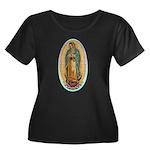 Virgin Guadalupe Women's Plus Size Scoop Neck Dark