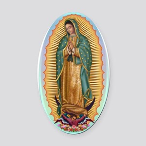 Virgin Guadalupe Oval Car Magnet