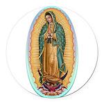 Virgin Guadalupe Round Car Magnet