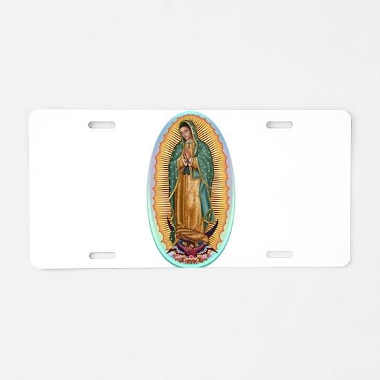 Virgin Guadalupe Aluminum License Plate
