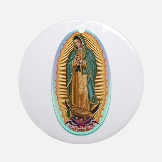 Virgin Guadalupe Ornament (Round)
