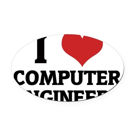 COMPUTER ENGINEERS Oval Car Magnet