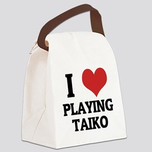 PLAYING TAIKO Canvas Lunch Bag