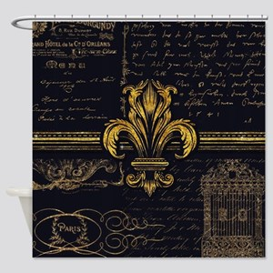 Fleur de Lis French Paris Vintage S Shower Curtain