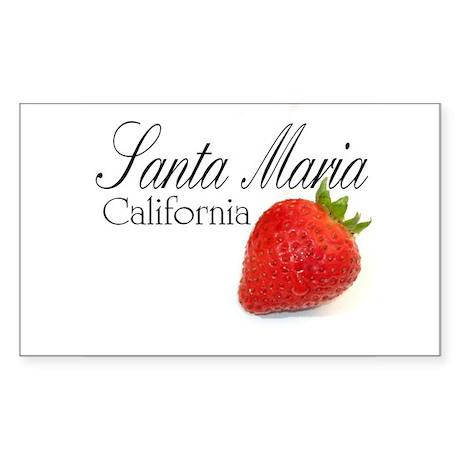 Santa Maria Strawberries Sticker