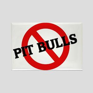 anti-PIT BULLS Rectangle Magnet