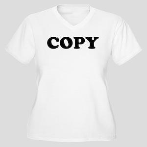 Copy Women's Plus Size V-Neck T-Shirt