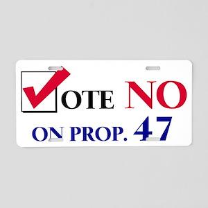 n47 Aluminum License Plate