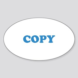 Copy Sticker (Oval)