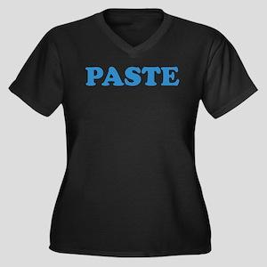 Paste Women's Plus Size V-Neck Dark T-Shirt