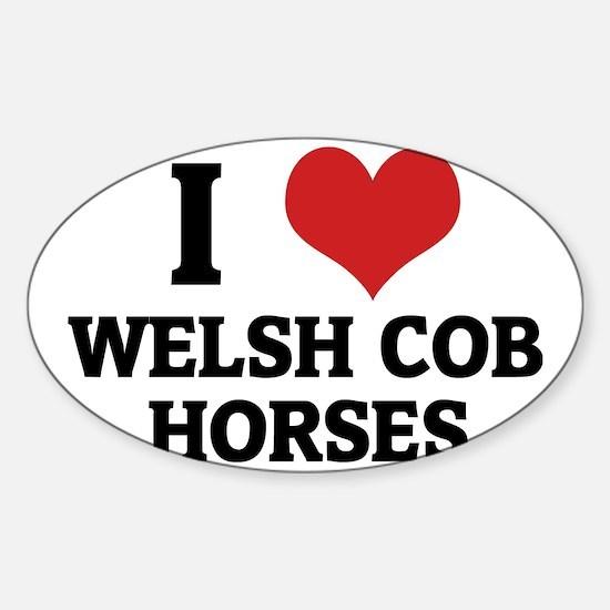 WELSH COB HORSES Sticker (Oval)