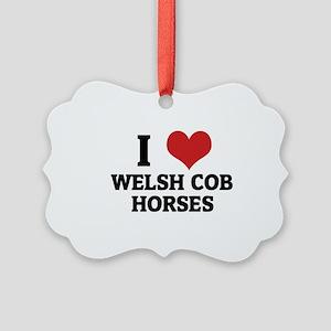WELSH COB HORSES Picture Ornament