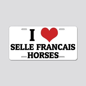SELLE FRANCAIS HORSES Aluminum License Plate