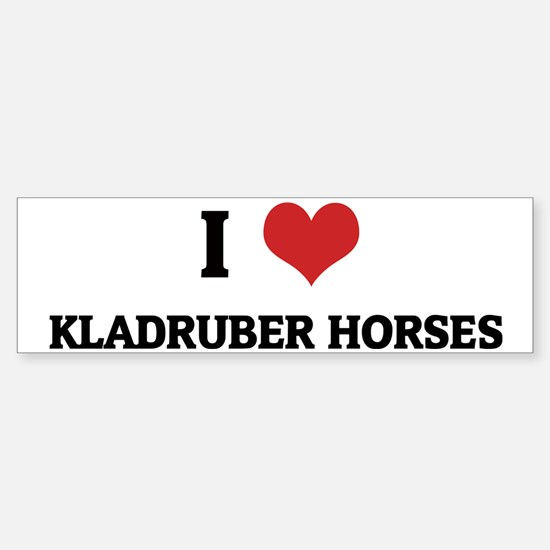KLADRUBER HORSES Sticker (Bumper)