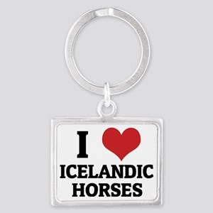 ICELANDIC HORSES Landscape Keychain