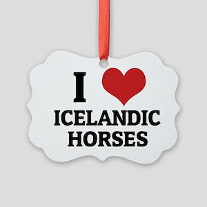 ICELANDIC HORSES Picture Ornament