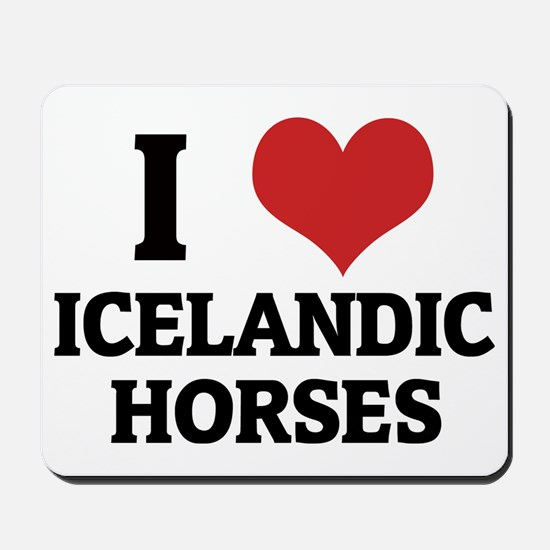 ICELANDIC HORSES Mousepad