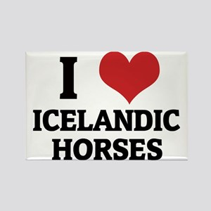 ICELANDIC HORSES Rectangle Magnet