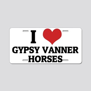 GYPSY VANNER HORSES Aluminum License Plate