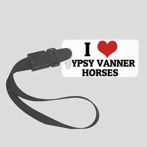 GYPSY VANNER HORSES Small Luggage Tag