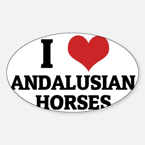 ANDALUSIAN HORSES Sticker (Oval)