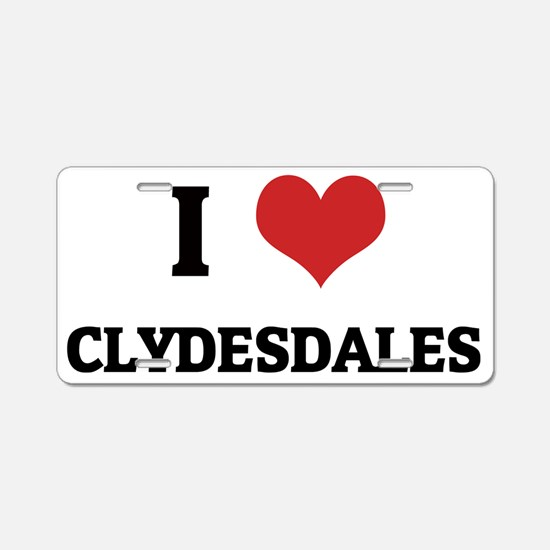CLYDESDALES Aluminum License Plate