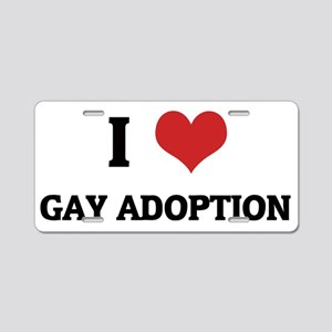 GAY ADOPTION Aluminum License Plate