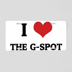 THE G-SPOT Aluminum License Plate
