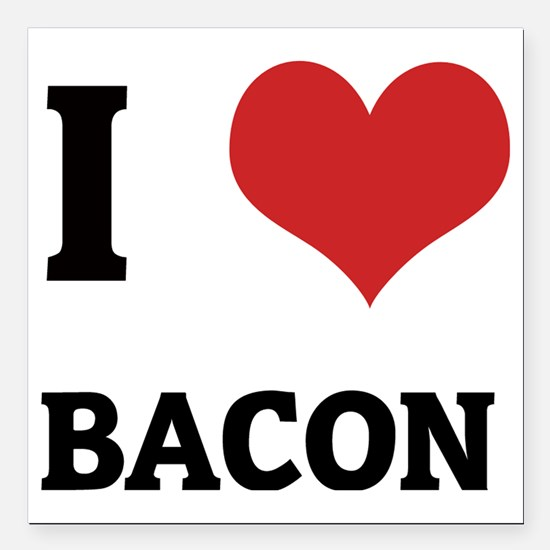"BACON Square Car Magnet 3"" x 3"""