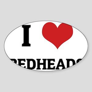 REDHEADS Sticker (Oval)