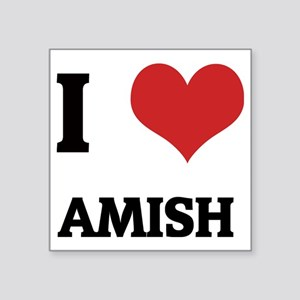 "AMISH Square Sticker 3"" x 3"""