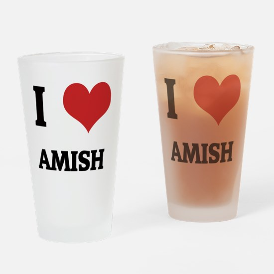 AMISH Drinking Glass