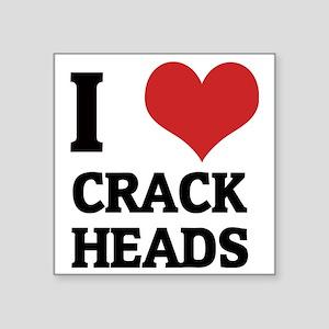 "CRACK HEADS Square Sticker 3"" x 3"""