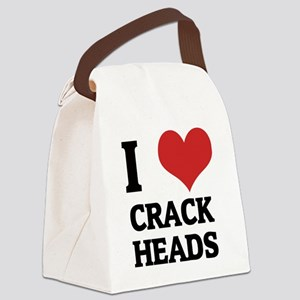 CRACK HEADS Canvas Lunch Bag