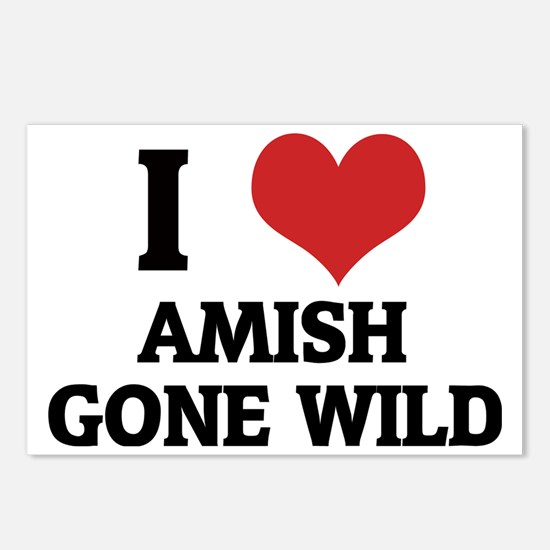 AMISH GONE WILD Postcards (Package of 8)