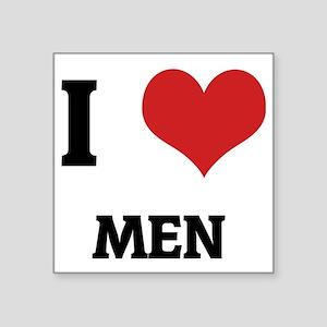 """MEN_1 Square Sticker 3"""" x 3"""""""