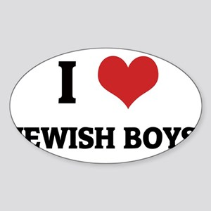 JEWISH BOYS Sticker (Oval)