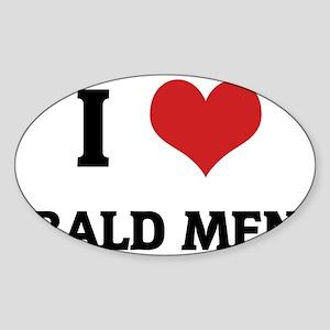BALD MEN_1 Sticker (Oval)