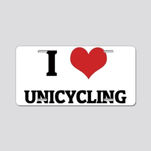 UNICYCLING Aluminum License Plate
