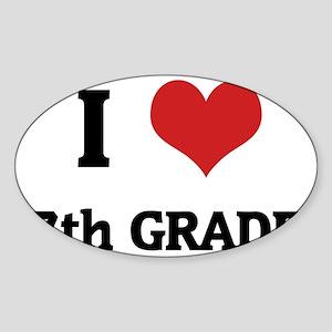 7th GRADE Sticker (Oval)