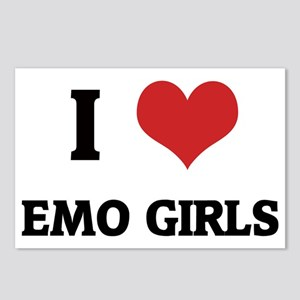 EMO GIRLS5 Postcards (Package of 8)