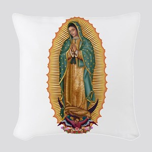 La Guadalupana Woven Throw Pillow