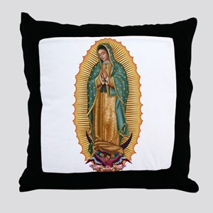 La Guadalupana Throw Pillow