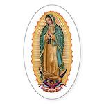 La Guadalupana Sticker (Oval 50 pk)