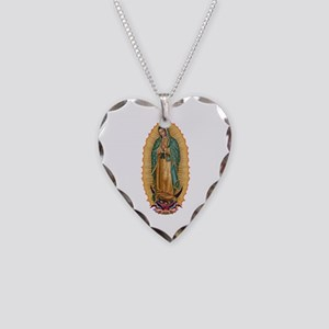 La Guadalupana Necklace Heart Charm