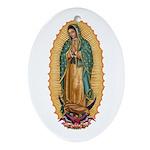 La Guadalupana Ornament (Oval)