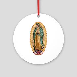La Guadalupana Ornament (Round)