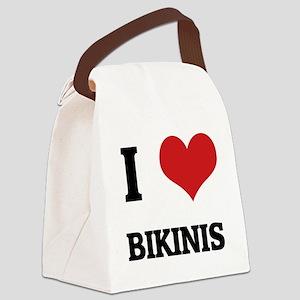 BIKINIS Canvas Lunch Bag